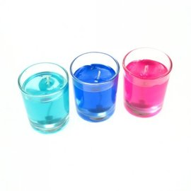 Shell and Gel Candle, Mini Set of 3