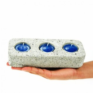 Pumice Candle Holder