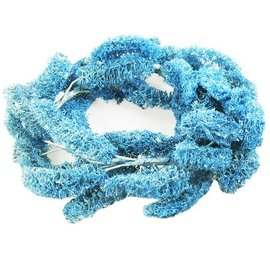 17.5cm Blue Loofah Wreath