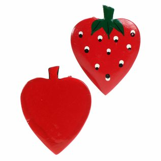 Painted Fruit Strawberry 8cm