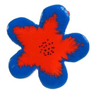 Painted wood flower 5cm.