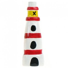 Painted Light House 8cm Flatback