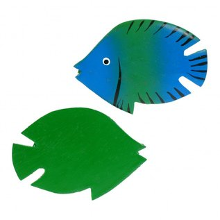 Painted Fish 8cm Green/Blue