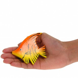 Painted Angel Fish 8cm Yellow/Orange