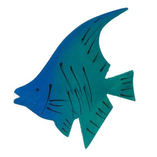 Painted Angel Fish 8cm Green/Blue