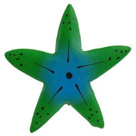 Painted Star Fish Shape 8cm Flatback Green/Blue