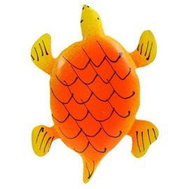 Painted Turtle Shape 8cm Yellow/Orange