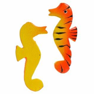 Painted Sea Horses 8cm Flatback Yellow/Orange