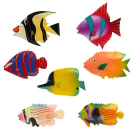 Painted Fish Shapes 8cm Flatback