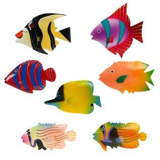 Painted Fish Shapes 8cm Flatback