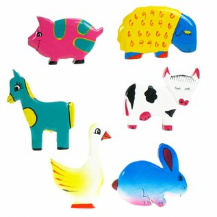 Painted Farm Animal 8cm 3D