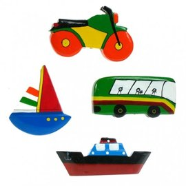 Painted Transport 8cm Flatback