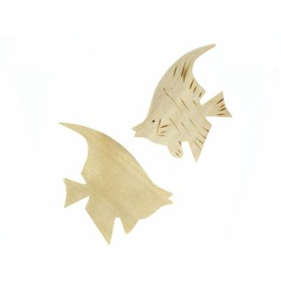 Wooden Angel Fish 8cm.
