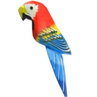 Handpainted Parrot with Clip
