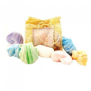 Sinamay Pouch with 8 Soap