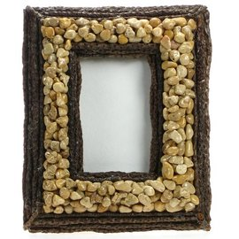 Pebble and Cream Stick Frame 8X6""