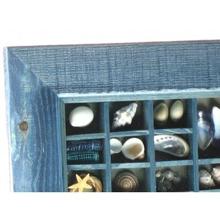 Navy maritime Picture with Shells. 20x15 interior with 50mm frame