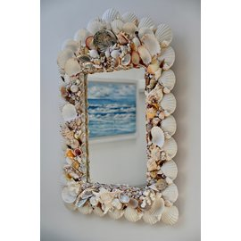 SEAURCO Large Assorted Shell Mirror