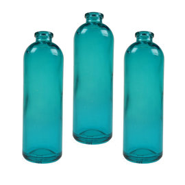 SEAURCO Set of 3 Green Bottles - Glass