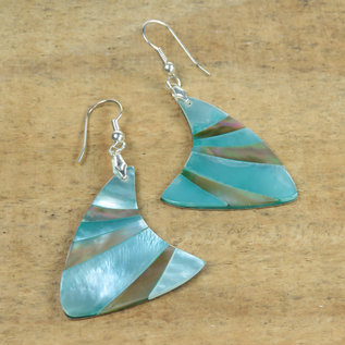 SEAURCO Seashell Earring - Polished Jade and Mother of Pearl