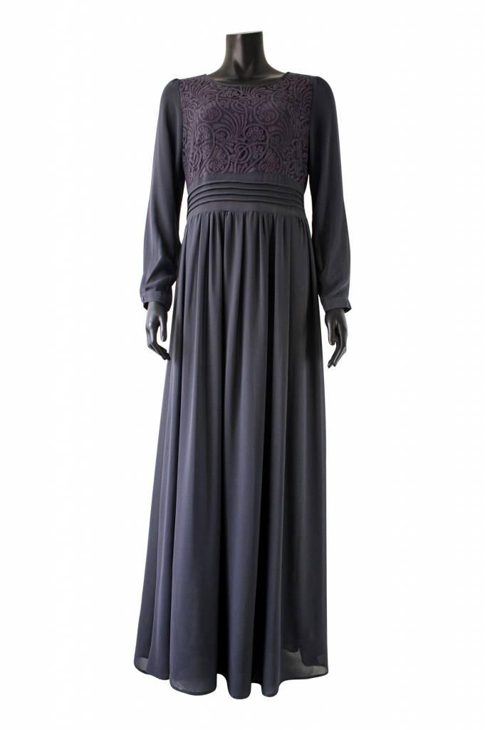 Maxi jurk milazo donkergrijs