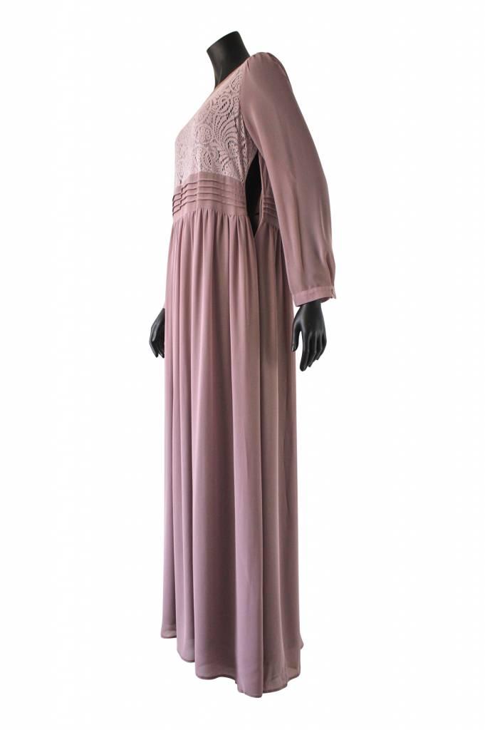 Maxi jurk milazo poederroze