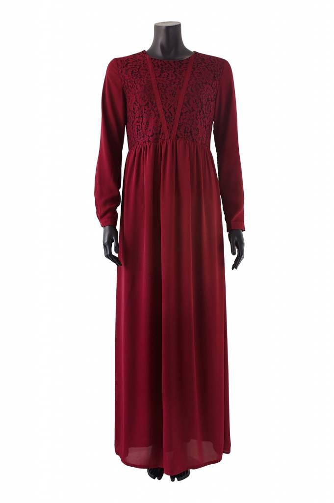 Maxi Jurk Bordeaux.Hijab Hijabi Hijabista Hijab Mode Hijab Fashion Hijab Apparel