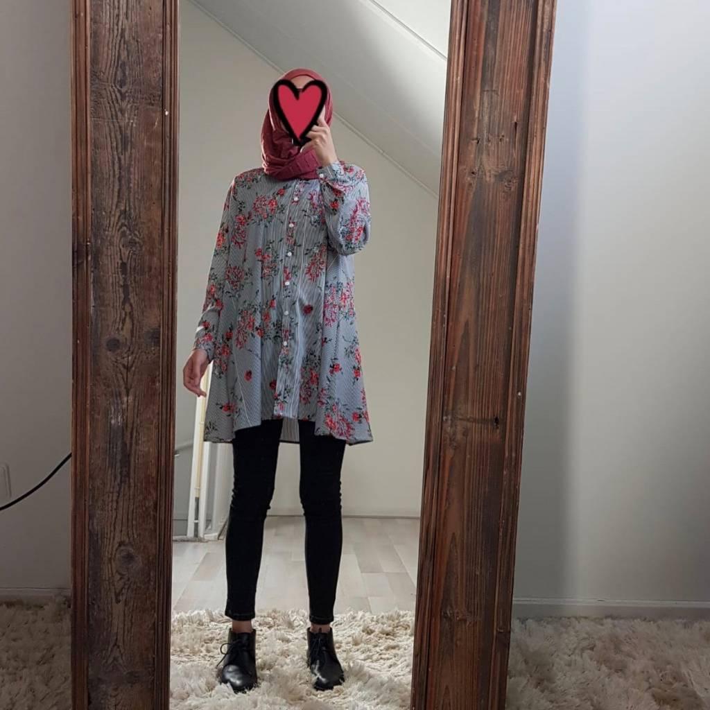 A lijn blouse arenzano rood