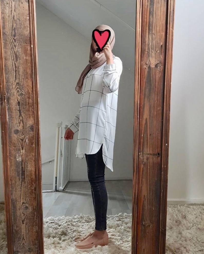 Hijablouse badolato wit