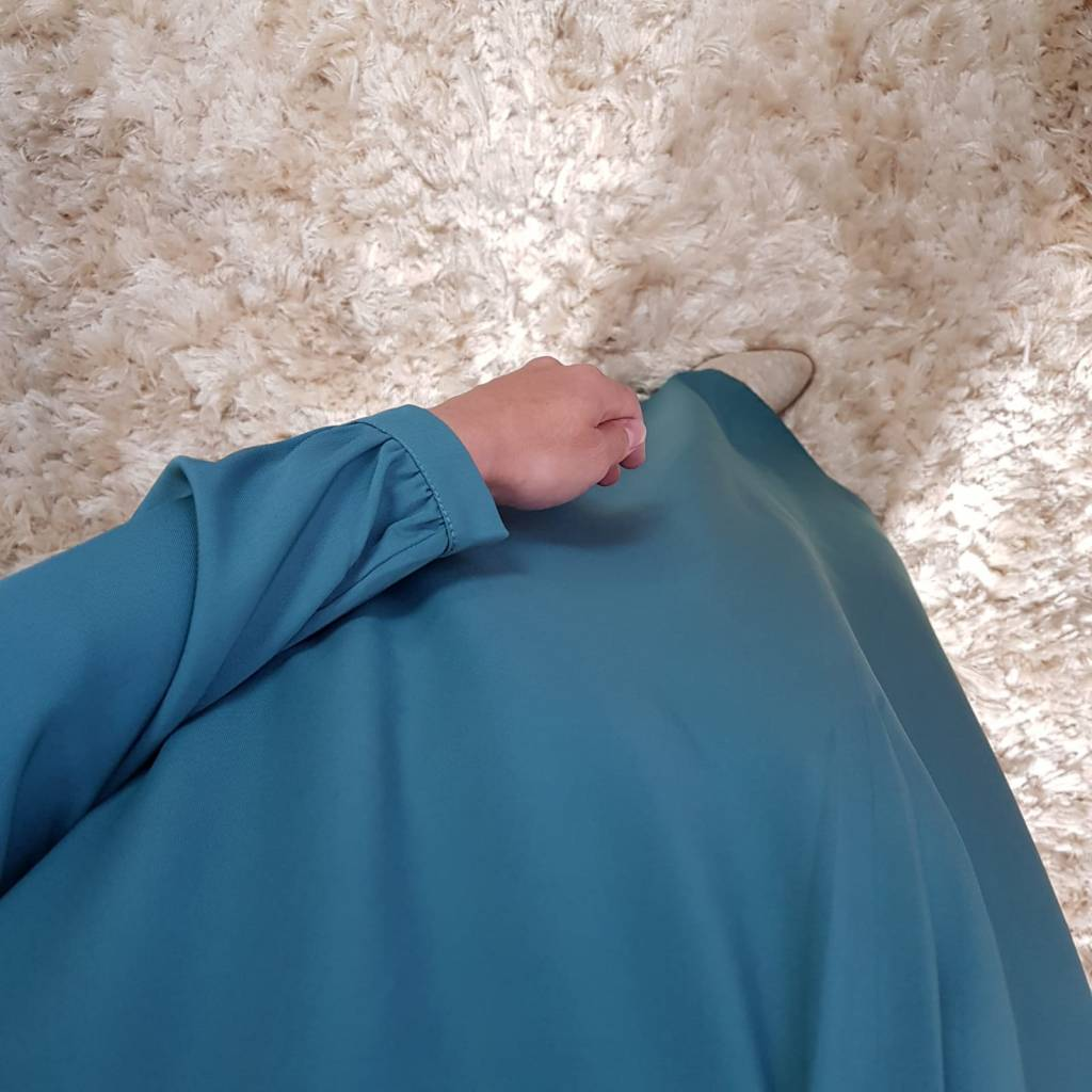 Abaya albarella turqouise blauw