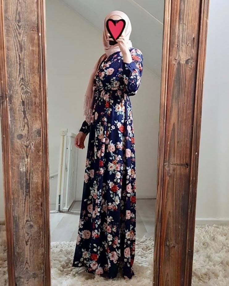 Maxi jurk rimini blauwe print