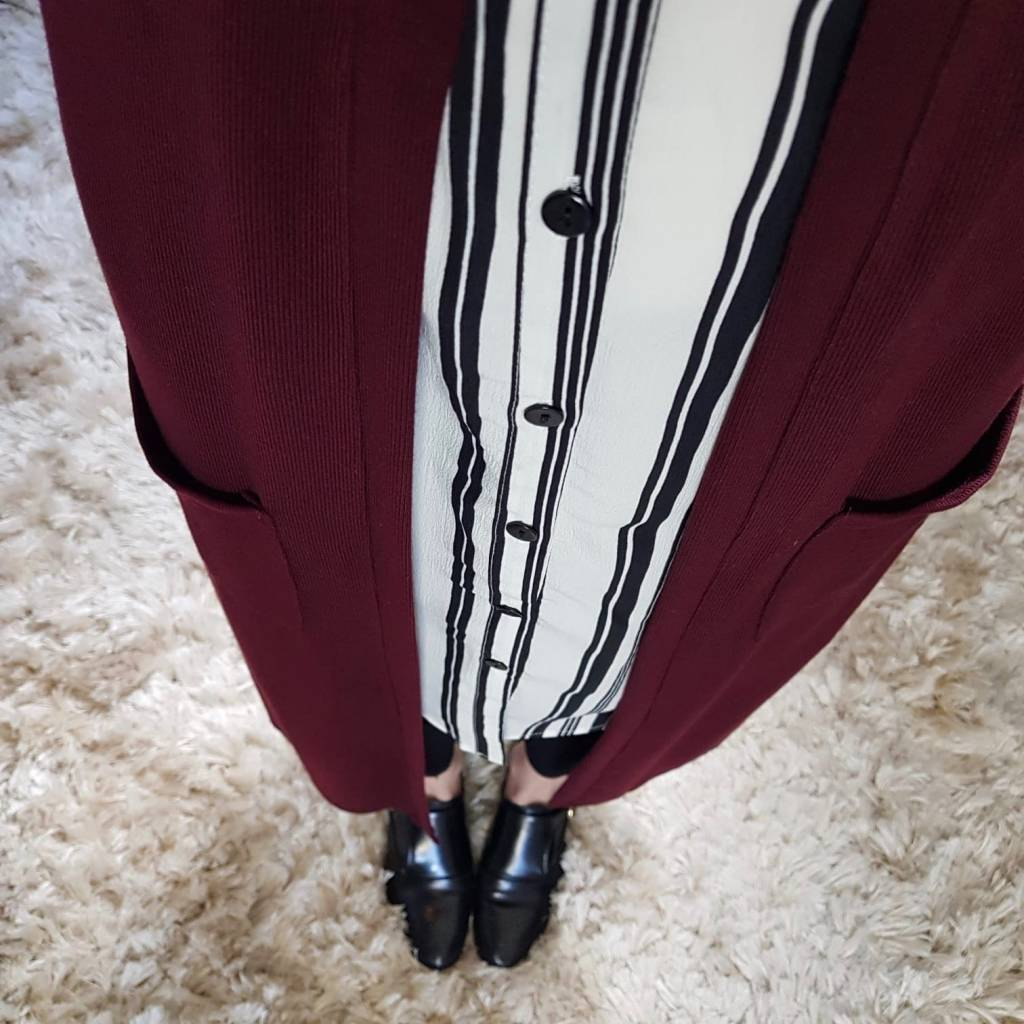 Full length vest citara bordeaux