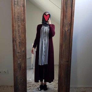 Full length vest citara bordeaux