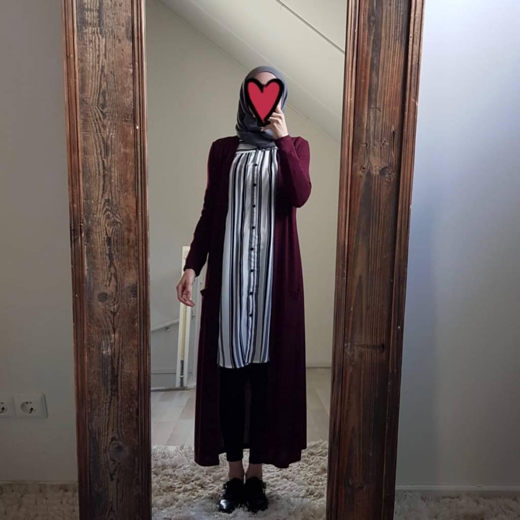 full length vest citara 101 bordeaux