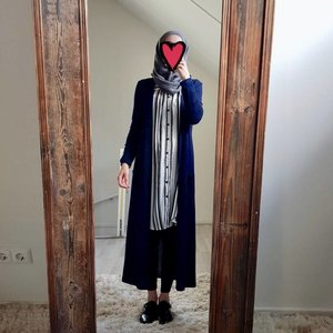 Full length vest citara donkerblauw