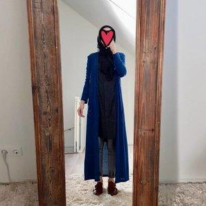Full length vest citara blauw