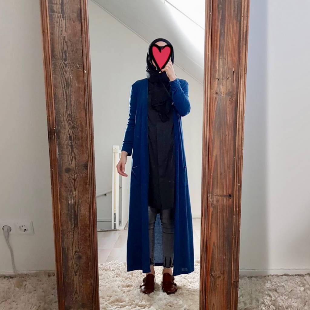 Full length vest citara blauw