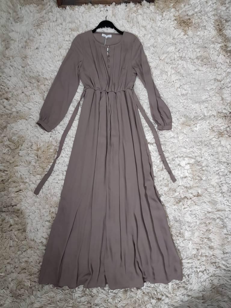 Maxi jurk palmdale 087 taupe