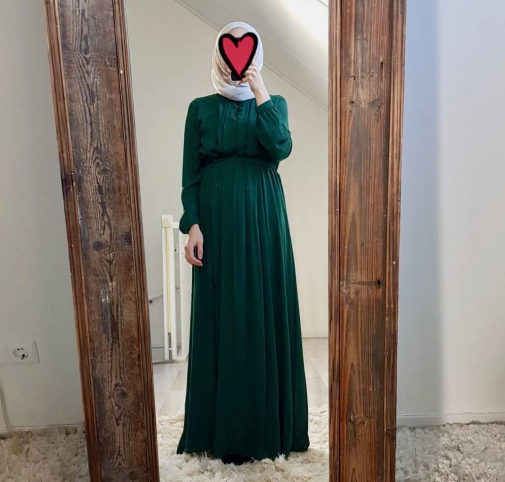 Maxi jurk palmdale groen