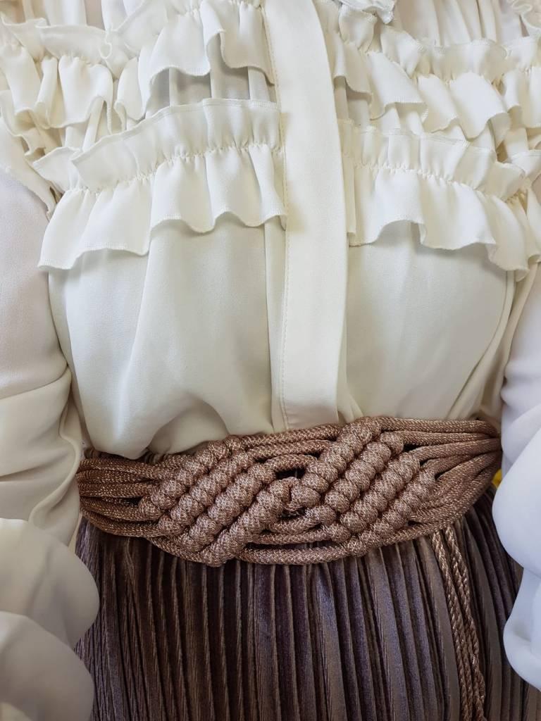 Velours plisse rok sapri bruin
