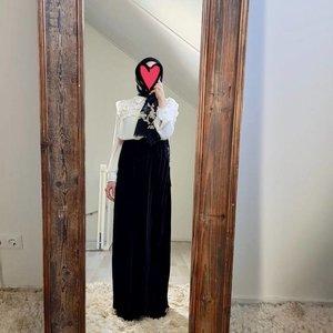 velours plisse rok sapri 519 zwart