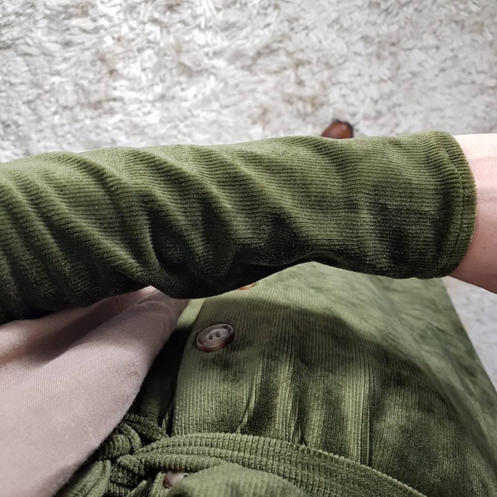 Curduroy jurkje veneto groen