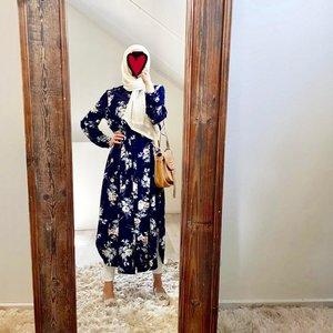 Hijablouse nardo blauw