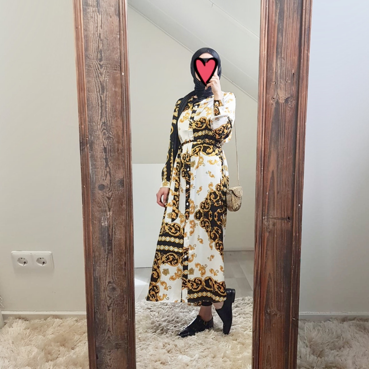 Hijablouse nardo rns print