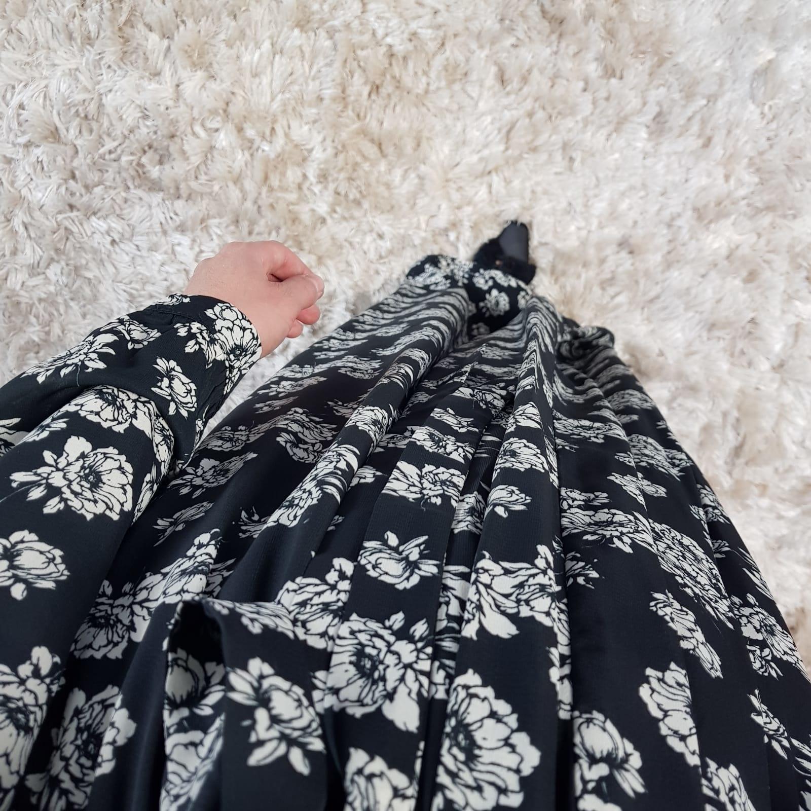 Maxi jurk palmdale 087 print II zwart