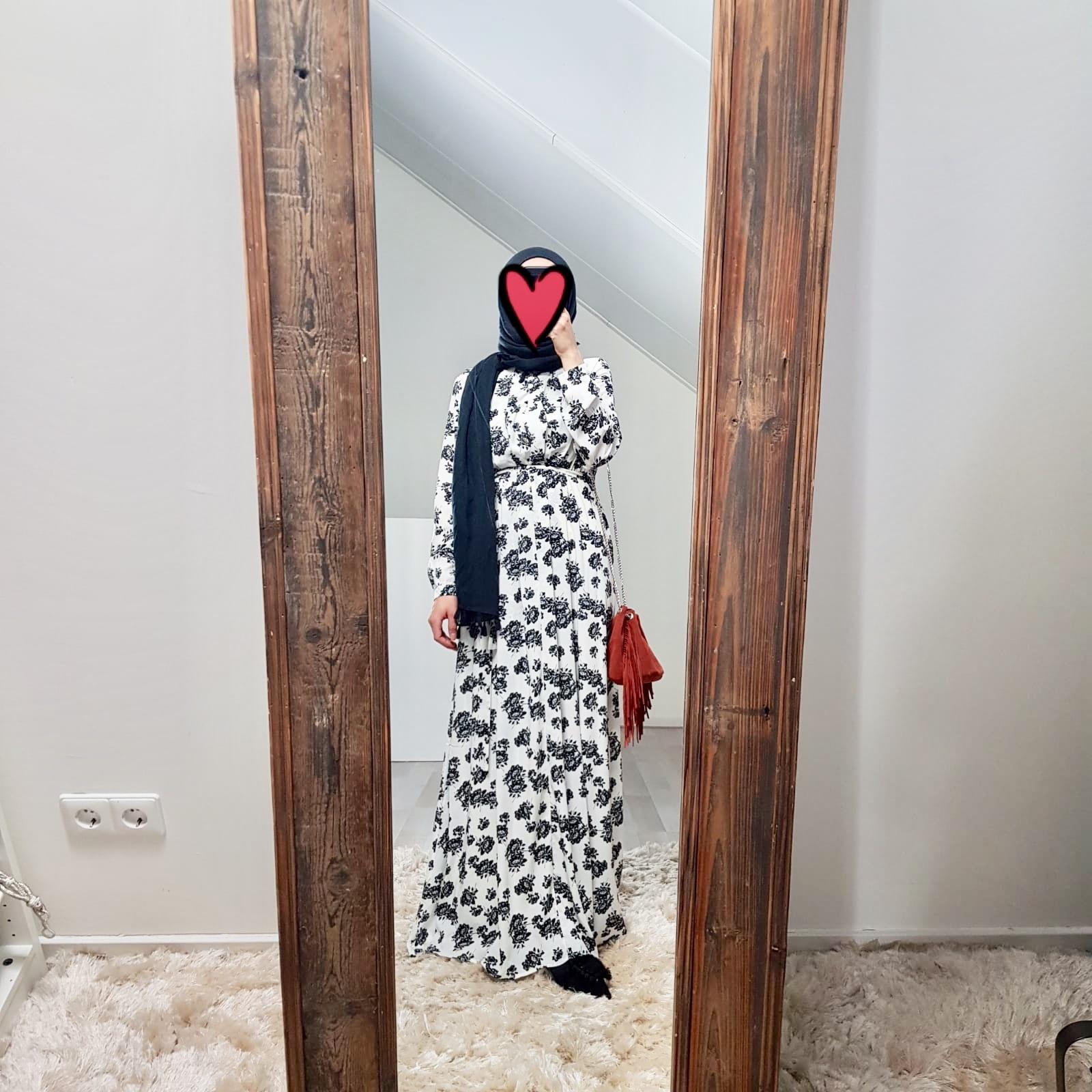 Maxi jurk palmdale 087 print II wit
