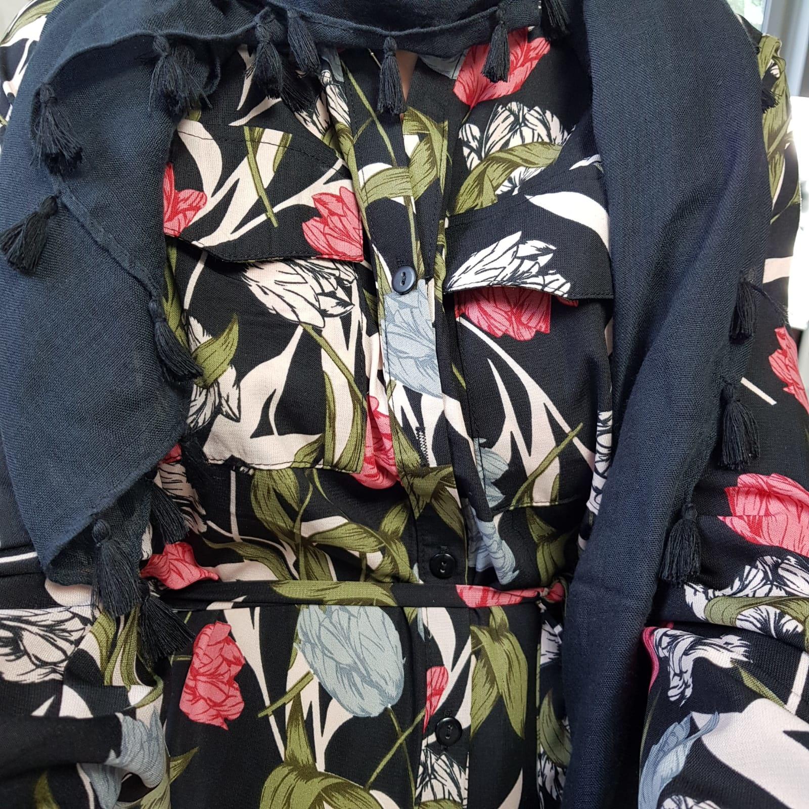 Maxi blouse salvo zwart