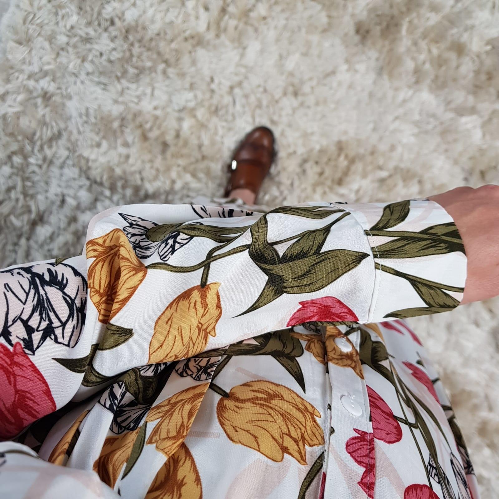 Maxi blouse salvo white