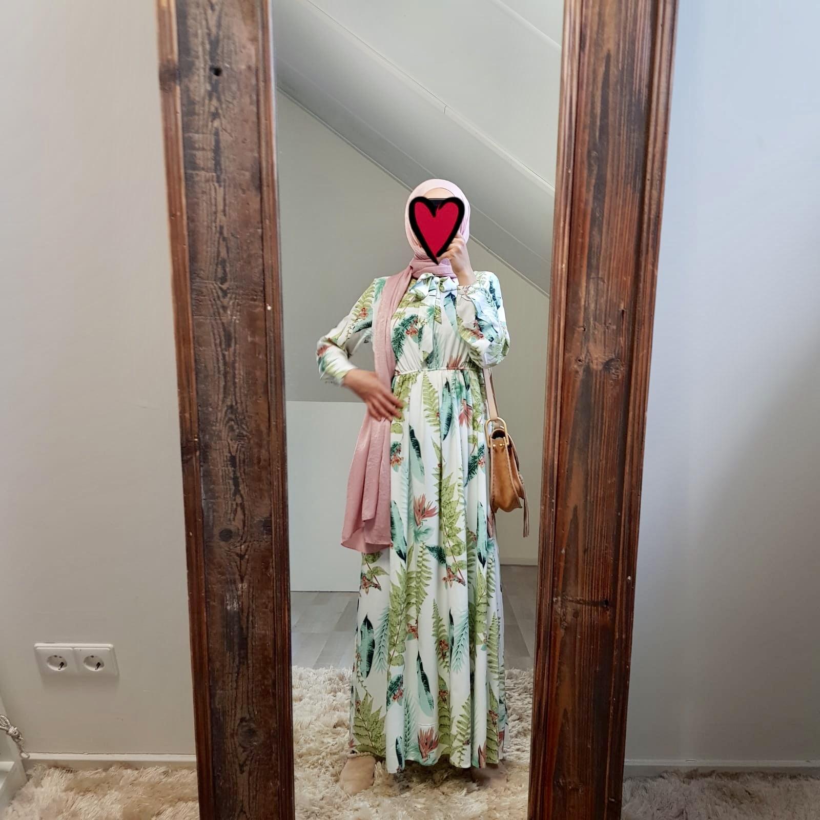 Maxi jurk calabasas print wit v2