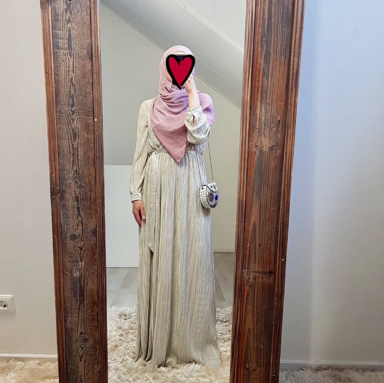pleated dress amantea pistache